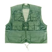 10 POCKET MESH VEST OLIVE GREEN MEDIUM NEW
